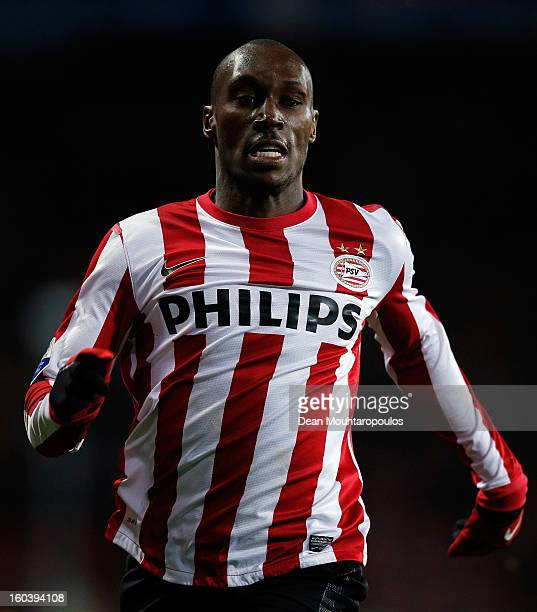 Atiba Hutchinson of PSV in action during the KNVB Dutch Cup match between PSV Eindhoven and Feyenoord Rotterdam at Philips Stadion on January 30 2013...