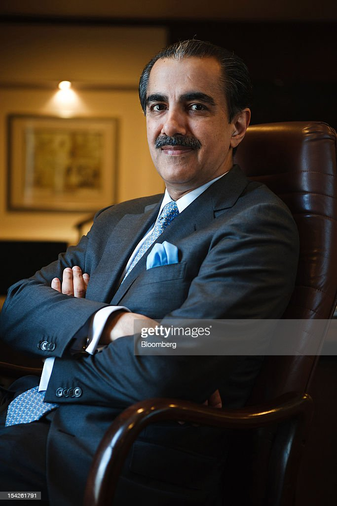 Atif Bajwa, chief executive officer of Bank Alfalah Ltd., poses for a photograph in Karachi, Pakistan, on Wednesday, Oct. 17, 2012. Bank Alfalah, Pakistan's second-biggest Islamic lender, may see 20 percent growth in net income this year and in 2013 as it expands its branch network to tap growing demand for Shariah-compliant finance. Photographer: Asim Hafeez/Bloomberg via Getty Images
