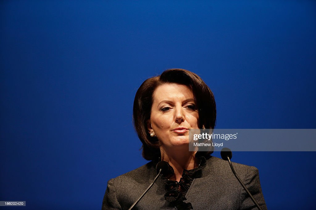 H.E. <a gi-track='captionPersonalityLinkClicked' href=/galleries/search?phrase=Atifete+Jahjaga&family=editorial&specificpeople=7799061 ng-click='$event.stopPropagation()'>Atifete Jahjaga</a>, President of the Republic of Kosovo speaks during the Opening Ceremony & Leaders Panel at the 9th World Islamic Economic Forum at ExCel on October 29, 2013 in London, England.