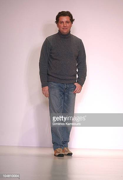 Atil Kutoglu during MercedesBenz Fashion Week Fall 2003 Collections Atil Kutoglu Runway at Bryant Park in New York City New York United States