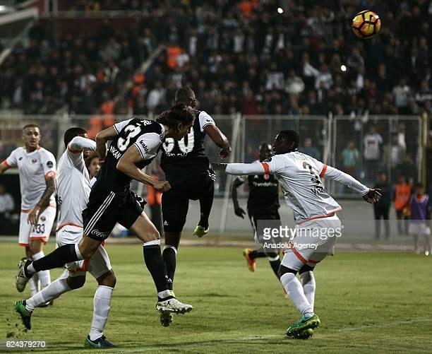 Atinc Nukan of Besiktas in action during the Turkish Spor Toto Super Lig match between Adanaspor and Besiktas at Adana 5 Ocak Fatih Terim Stadium in...
