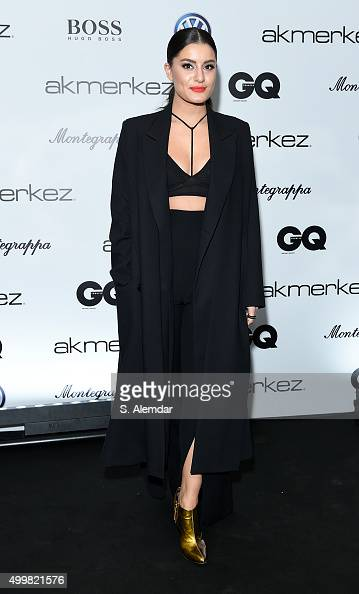 Atiye attends the GQ Men of the Year Awards at Four Season Bosphorus Hotel on December 3 2015 in Istanbul Turkey