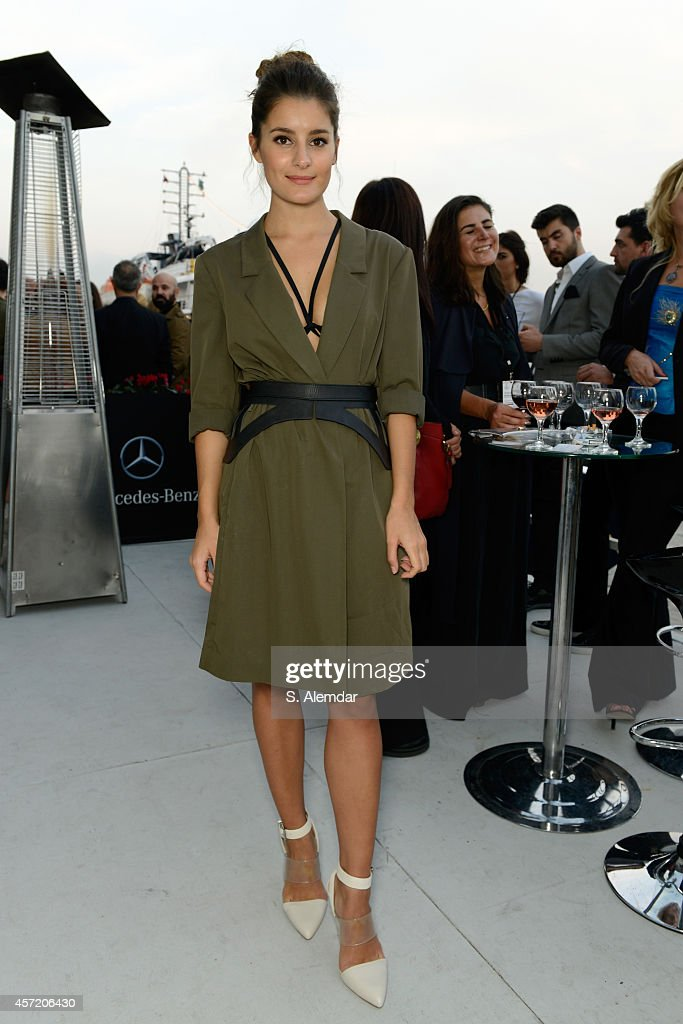 Atiye attends the Selim Baklaci show during Mercedes Benz Fashion Week Istanbul SS15 at Antrepo 3 on October 14 2014 in Istanbul Turkey