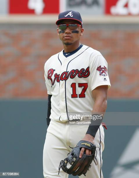 Atlanta Braves infielder Johan Camargo during the MLB game between the Atlanta Braves and the Miami Marlins on August 6 2017 at SunTrust Park in...