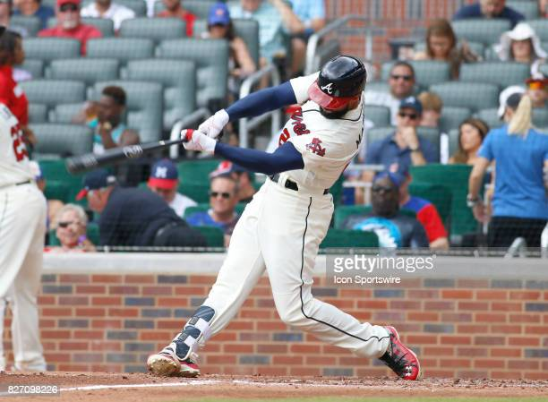 Atlanta Braves right fielder Nick Markakis during the MLB game between the Atlanta Braves and the Miami Marlins on August 6 2017 at SunTrust Park in...