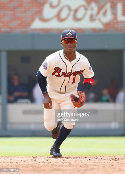Atlanta Braves rookie infielder Ozzie Albies during the MLB game between the Atlanta Braves and the Miami Marlins on August 6 2017 at SunTrust Park...