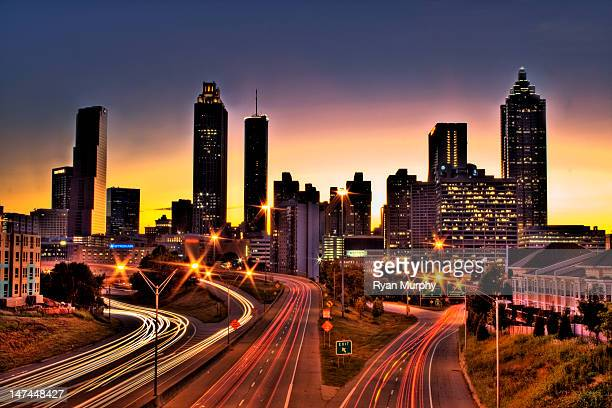 Atlanta colorful skyline