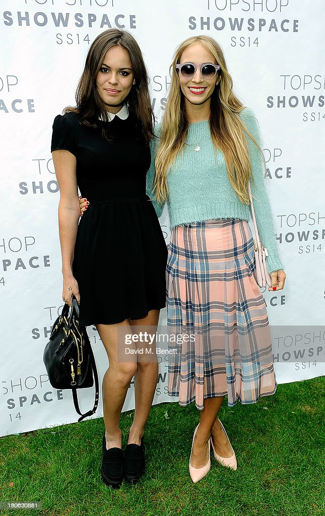 Atlanta de Cadenet (L) and Harley Viera-Newton attend the Unique SS14 show during London Fashion Week on September 15, 2013 in London, England.
