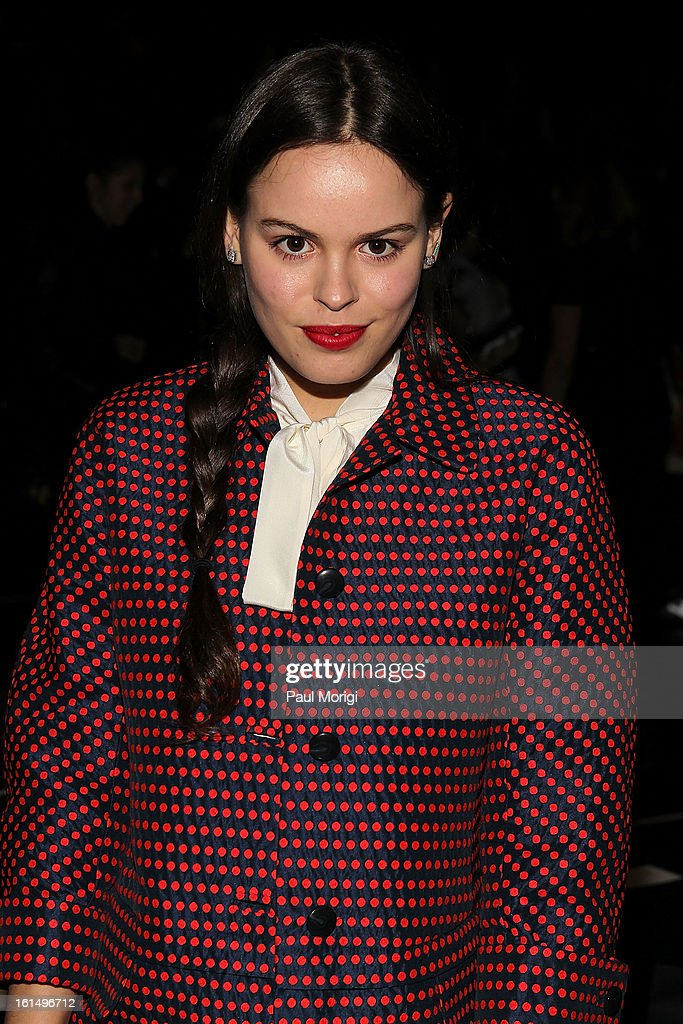 Atlanta de Cadenet attends Marc By Marc Jacobs during Fall 2013 Mercedes-Benz Fashion Week at The Theater at Lincoln Center on February 11, 2013 in New York City.
