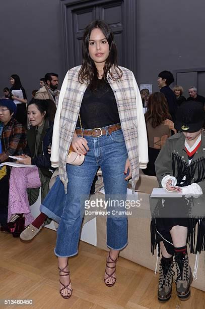 Atlanta De Cadenet attends the Chloe show as part of the Paris Fashion Week Womenswear Fall/Winter 2016/2017 on March 3 2016 in Paris France