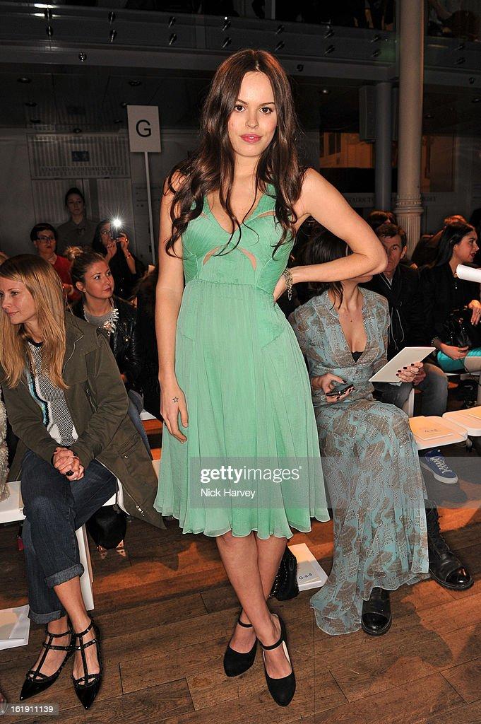 Atlanta De Cadenet attends the Matthew Williamson show during London Fashion Week Fall/Winter 2013/14 on February 17, 2013 in London, England.