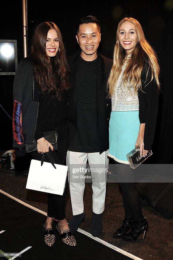 Atlanta de Cadenet, Phillip Lim and Harley Viera Newton backstage at the 3.1 Phillip Lim fall 2013 fashion show during Mercedes-Benz Fashion Week on February 11, 2013 in New York City.