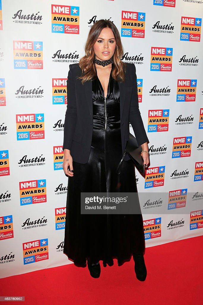 Atlanta De Cadenet Taylor arrives at the NME Awards at Brixton Academy on February 18 2015 in London England