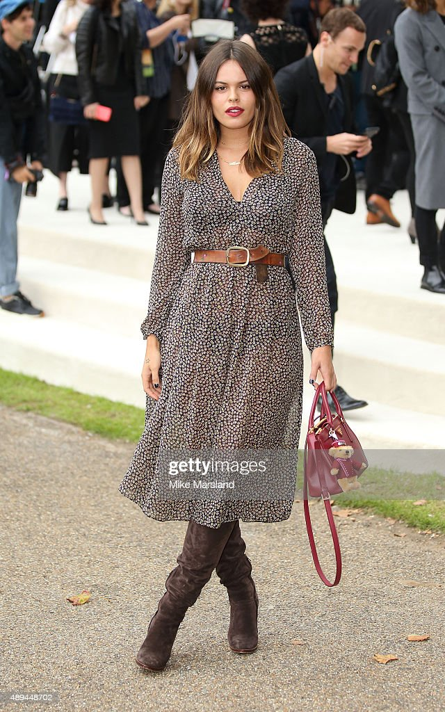 Atlanta de Cadenet Taylor attends the Burberry Prorsum show during London Fashion Week Spring/Summer 2016/17 on September 21 2015 in London England