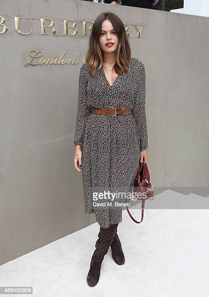 Atlanta de Cadenet Taylor attends the Burberry Womenswear Spring/Summer 2016 show during London Fashion Week at Kensington Gardens on September 21...