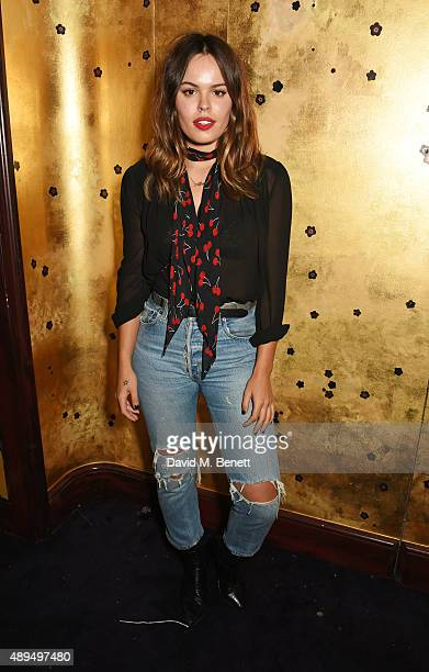 Atlanta de Cadenet Taylor attends the Love Magazine miu miu London Fashion Week party at Loulou's on September 21 2015 in London England