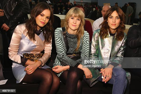 Atlanta de Cadenet Tennessee Thomas and Alexa Chung attend the Marc By Marc Jacobs fashion show during MercedesBenz Fashion Week Fall 2014 at Pier 36...