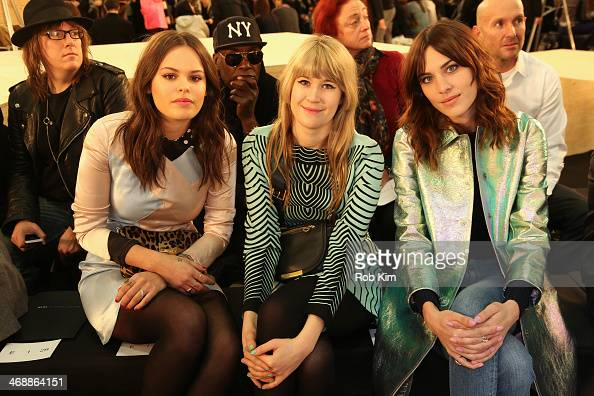 Atlanta de Cadenet Tennessee Thomas and Alexa Chung attend the Marc By Marc Jacobs Show during MercedesBenz Fashion Week Fall 2014 at Pier 36 on...