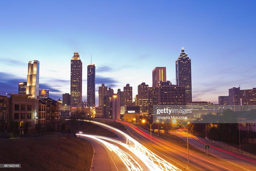 CONTENT] Atlanta Downtown skyline as seen from Jackson St bridge