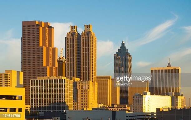 Atlanta downtown skyline at sunrise