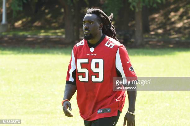 Atlanta Falcon Linebacker De'Vondre Campbell attends 'Nickelodeon's Worldwide Day Of Play And Laureus Sport For Good In Atlanta' at Washington Park...