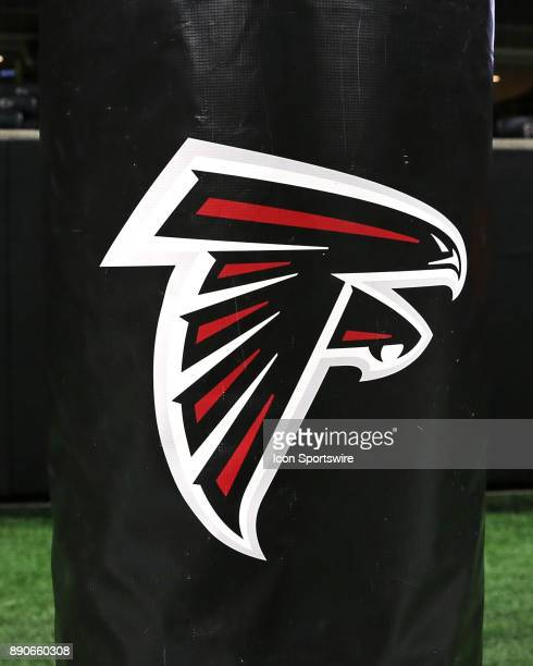 Atlanta Falcons goal post padding before the game against Atlanta Falcons and New Orleans Saints on December 07 2017 at the MercedesBenz Stadium in...