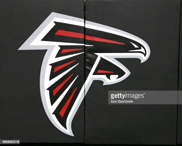 Atlanta Falcons logo on the wall padding before the game against Atlanta Falcons and New Orleans Saints on December 07 2017 at the MercedesBenz...