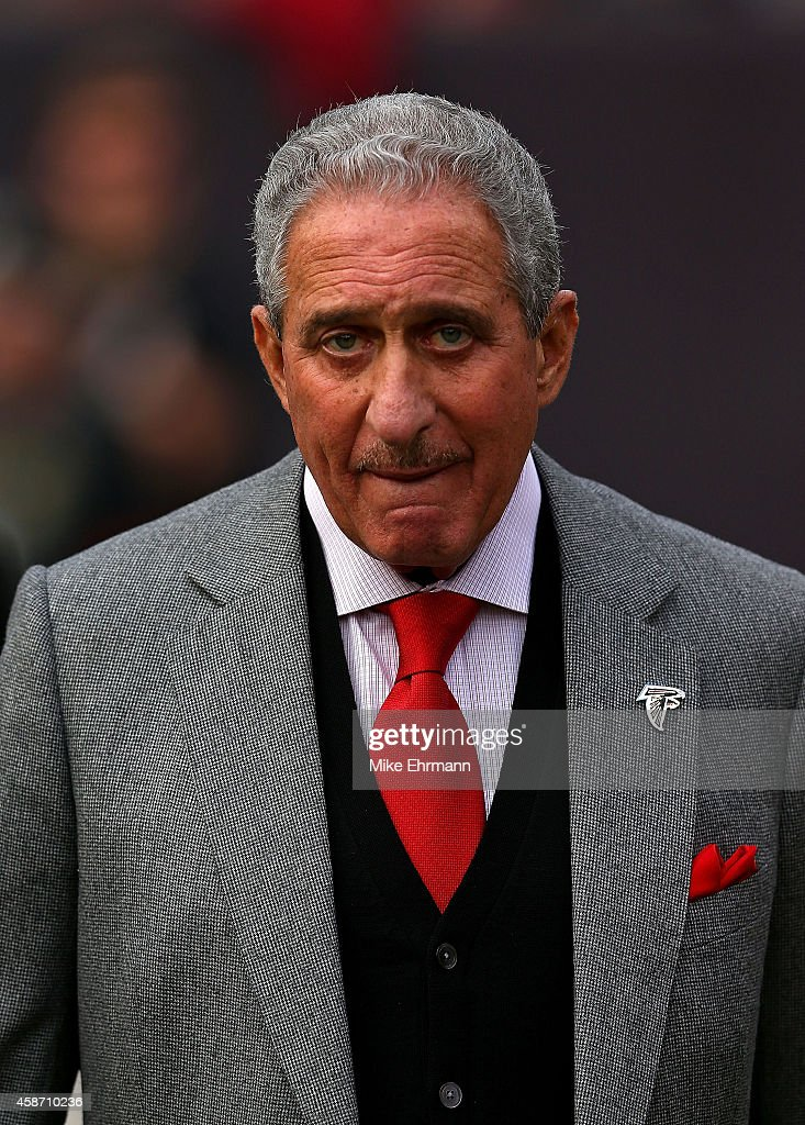 Atlanta Falcons owner Arthur Blank looks on during a game against the Tampa Bay Buccaneers at Raymond James Stadium on November 9 2014 in Tampa...