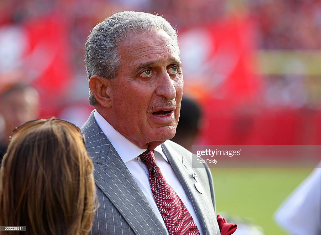 Atlanta Falcons owner Arthur Blank on the sidelines during the fourth quarter of the game against the Tampa Bay Buccaneers at Raymond James Stadium...