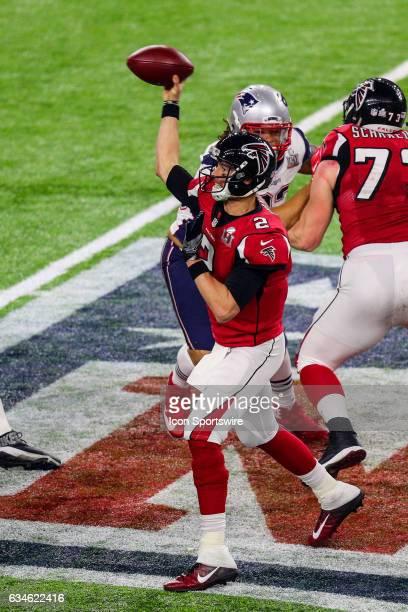 Atlanta Falcons quarterback Matt Ryan during the second half of Super Bowl LI on February 5 at NRG Stadium in Houston TX
