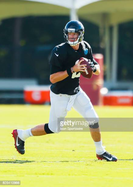 Atlanta Falcons quarterback Matt Ryan takes part of a drill on August 01 2017 during the Atlanta Falcons Training Camp in Flowery Branch Ga