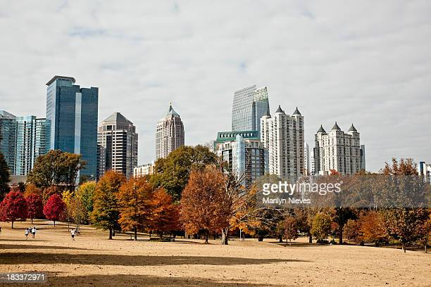 Atlanta fall skyline