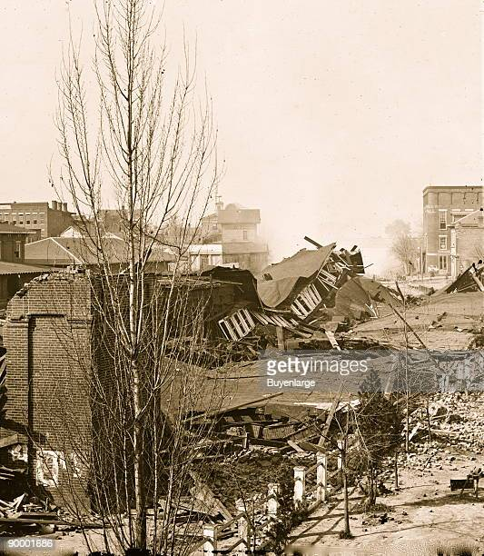 Atlanta Ga Ruins of depot blown up on Sherman's departure