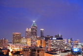 CONTENT] Atlanta Georgia city skyline at dusk Taken from a rooftop in midtown