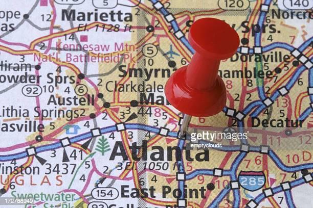 Atlanta, Georgia on a Map