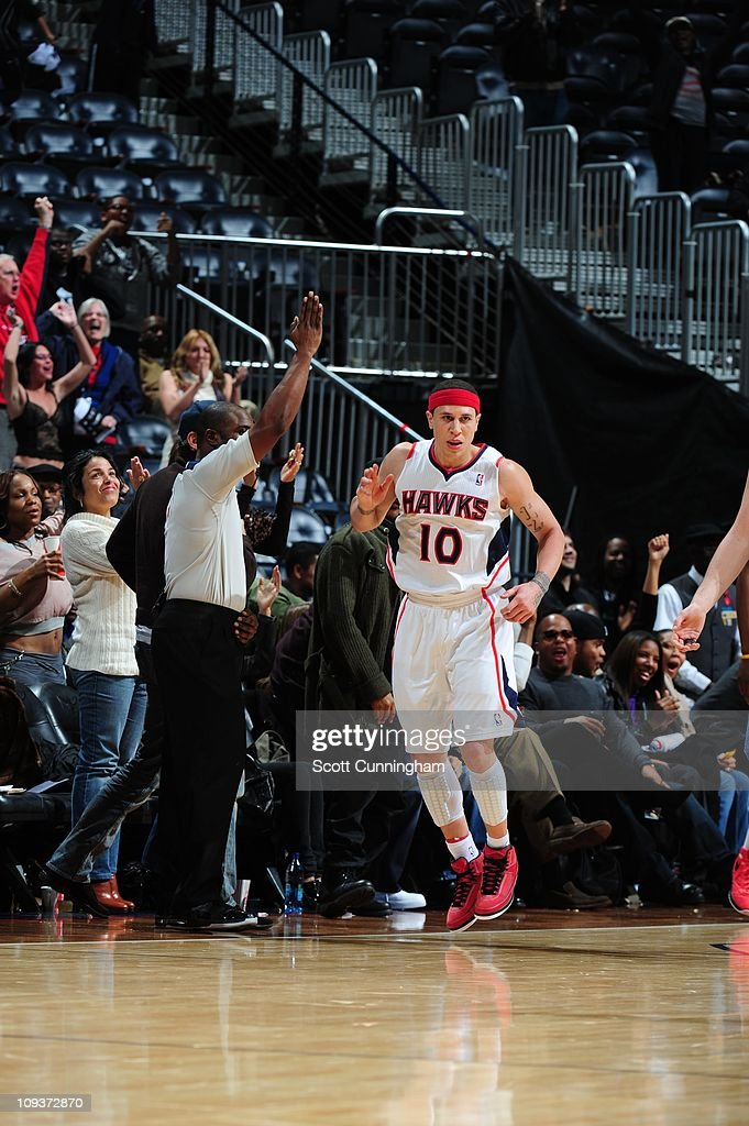 Atlanta Hawks point guard Mike Bibby is seen during the game against the Memphis Grizzlies on December 1 2010 at Philips Arena in Atlanta Georgia The...