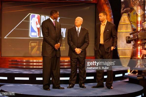 Atlanta Hawks representative Dominique Wilkins Seattle SuperSonics representative Lenny Wilkins and Portland Trail Blazers representative and 2007...