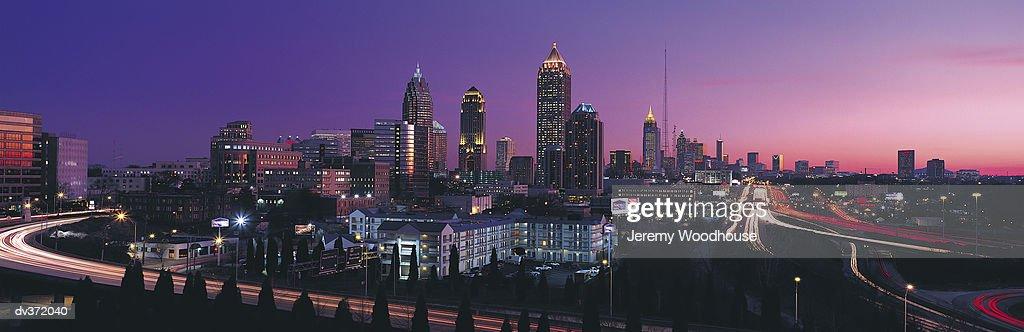 Atlanta in evening