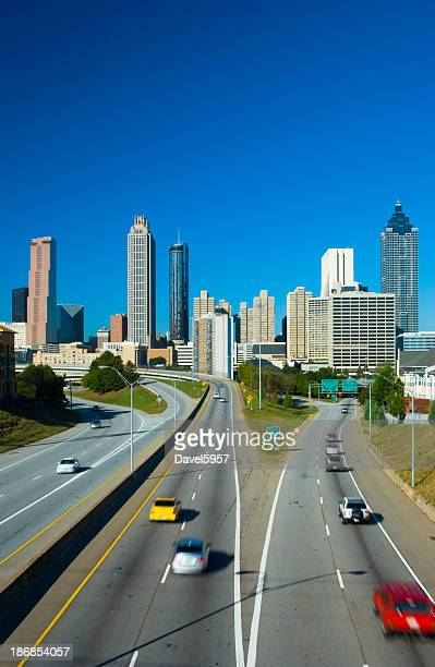 Atlanta skyline and highway