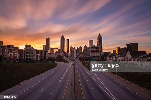 Atlanta skyline from the Jackson Street
