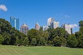 Atlanta skyline from the park