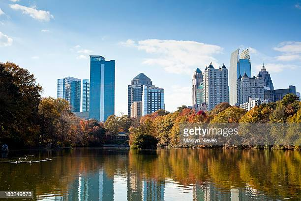 Atlanta skyline in autumn