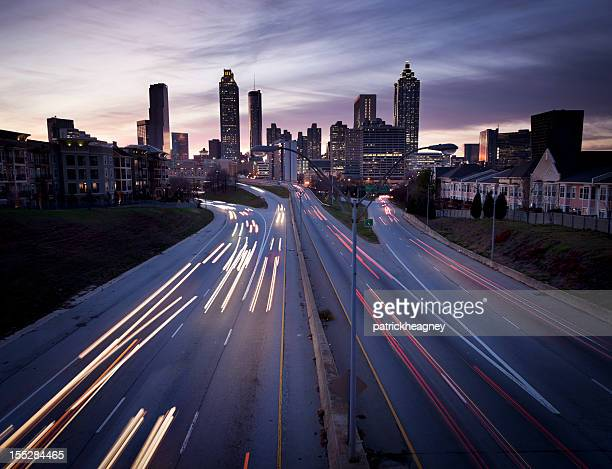 Atlanta Skyline with Traffic