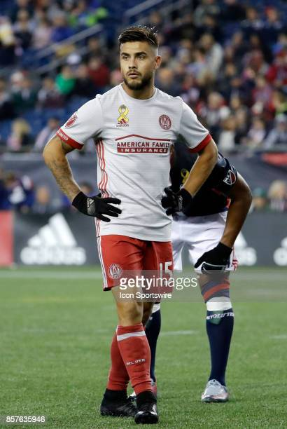 Atlanta United FC forward Hector Villalba waits on a corner during a match between the New England Revolution and Atlanta United FC on September 30...