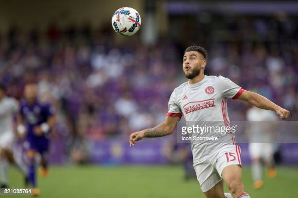 Atlanta United forward Hector Villalba watches the ball during the MLS soccer match between Atlanta United FC and Orlando City SC on July 21 2017 at...