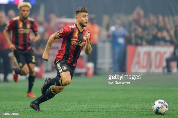 Atlanta's Hector Villalba looks to make a move with the ball during a match between Atlanta United and FC Dallas on September 10 2017 at MercedesBenz...
