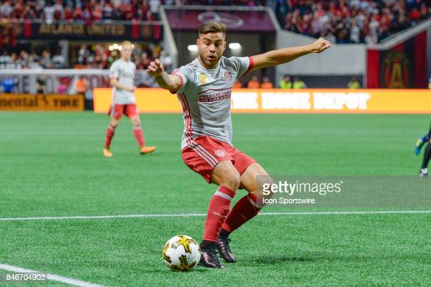 Atlanta's Hector Villalba makes a move in the box during a match between Atlanta United and the New England Revolution on September 13 2017 at...