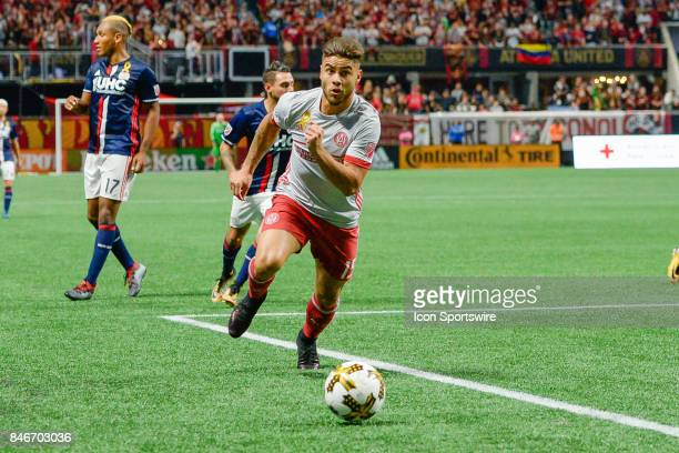 Atlanta's Hector Villalba makes a move up the field during a match between Atlanta United and the New England Revolution on September 13 2017 at...