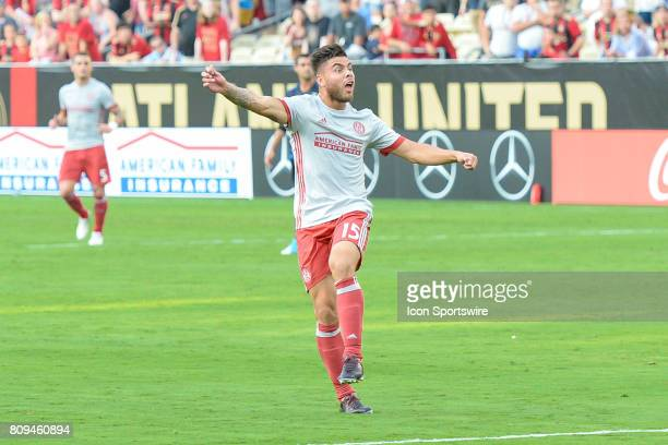 Atlanta's Hector Villalba reacts to a missed shot attempt during a match between the San Jose Earthquakes and Atlanta United on July 4 2017 at Bobby...
