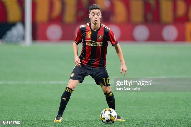 Atlanta's Miguel Almiron looks to make a move towards the goal during a match between Atlanta United and the Orlando City on September 16 2017 at...